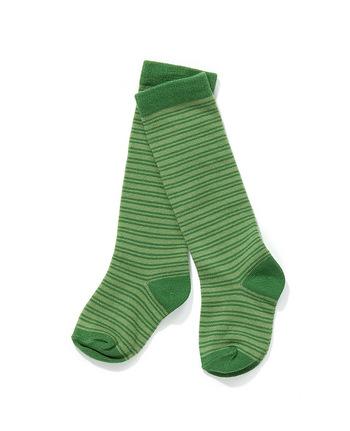 Lange kous Fut Green/Green Striped  Kousen  Kniekousen