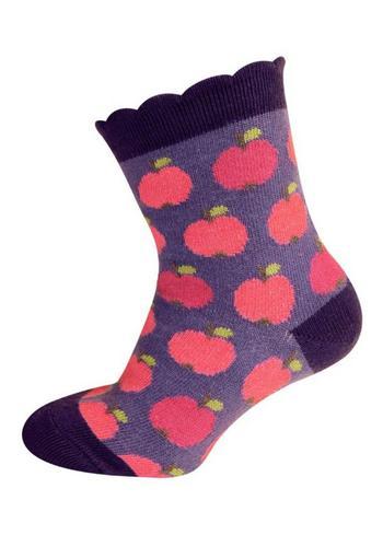 sokjes appel aubergine  Kousen  Kousen/sokken