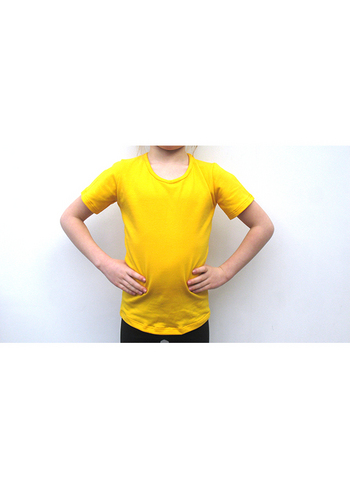 T-shirt warm geel  Kousen  Shirts