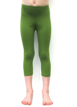 3/4e legging olijfgroen  Kousen  Leggings