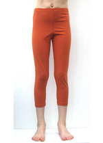 3/4e legging terracotta/roest  Kousen  Leggings
