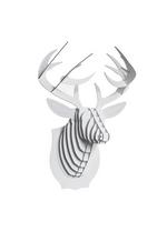 Buck Jr Deer white medium  Karton  Interieurdecoratie
