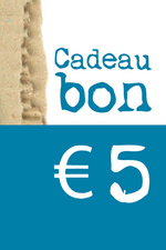Cadeaubon van € 5  Karton  Cadeaubonnen