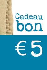 Cadeaubon van € 5  Kousen  Cadeaubonnen