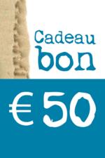 Cadeaubon van € 50  Karton  Cadeaubonnen