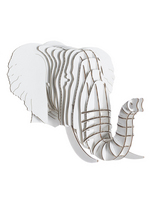 Eyan Jr. - medium elephant trophy white  Karton  Interieurdecoratie