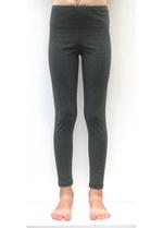 Lange legging donker gemêleerd grijs  Kousen  Leggings