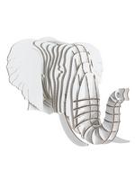 Micro Eyan - small elephant trophy - white  Karton  Interieurdecoratie
