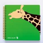 Notaboek spiraal Giraffe  Karton  Kaartjes enzo