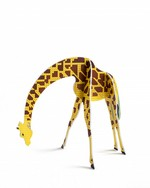 pop out kaart 'giraffe'  Karton  Kaartjes enzo
