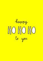 Postkaart 'Ho ho ho'  Karton  Kaartjes enzo