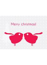 Postkaart 'KERST' Birds  Karton  Kaartjes enzo