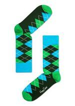 Ruiten groen-blauw-donker groen  Kousen  Kousen/sokken