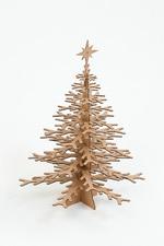 Snowflake Tree brown  Karton  Interieurdecoratie