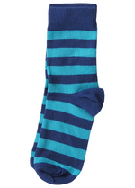Sokken gestreept blauw/turquoise  Kousen  Kousen/sokken