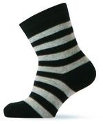 Sokken zwart/grijs gestreept  Kousen  Kousen/sokken