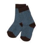 Sokken Hanan provinical blue cubes  Kousen  Kousen/sokken