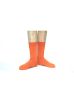 Sokken met fijne rib pompoen  Kousen  Kousen/sokken