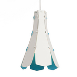 tweezijdige lampenkap Lily Blue  Karton  Interieurdecoratie