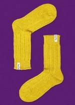 Warme 'laars' kousen oker  Kousen  Kousen/sokken