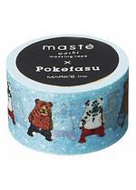 washi/masking Pokefasu licht blauw  Karton  Masking tape/Washi tape