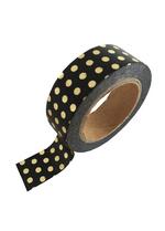 washi/masking tape Black gold foil dots  Karton  Masking tape/Washi tape