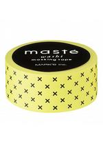washi/masking tape Yellow crosses  Karton