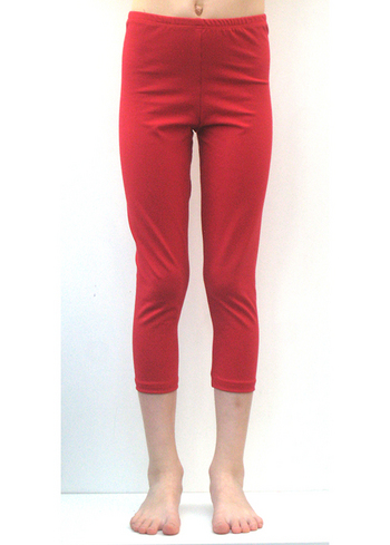 3/4e legging warm rood  Kousen  Leggings