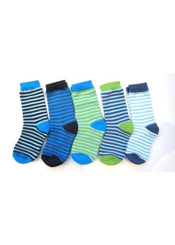 5-pack gestreepte sokken multi-color  Kousen  Kousen/sokken