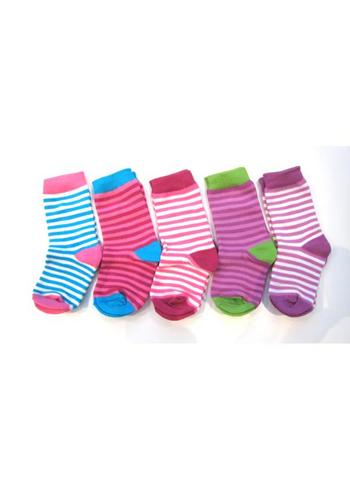 5-pack gestreepte sokken multicolor  Kousen  Kousen/sokken