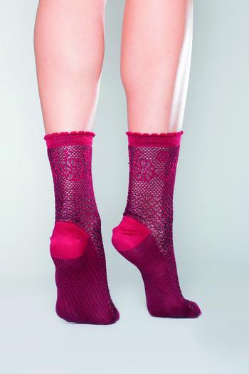 Alanis Chaussette Bordeaux  Kousen  Kousen/sokken