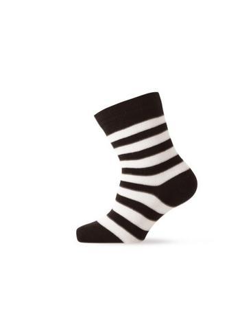 Sokken gestreept zwart/ecru  Kousen  Kousen/sokken