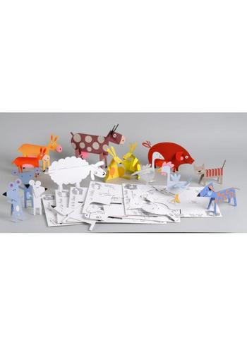 Boerderijdieren  Karton  Speelgoed / creatief
