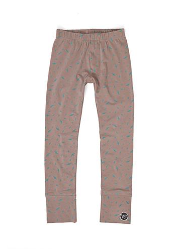 broek/legging steengrijs met vogeltjes  Kousen  Leggings