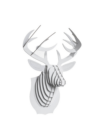 Buck Jr Deer white medium  Karton  Interieurdecoratie