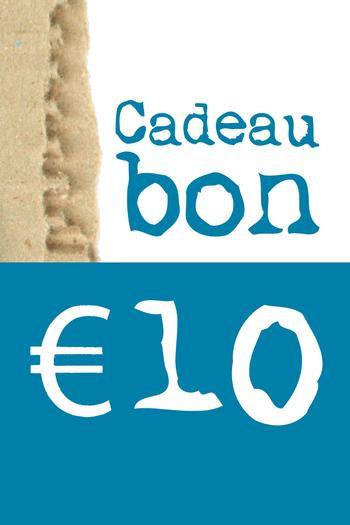 Cadeaubon van € 10  Karton  Cadeaubonnen