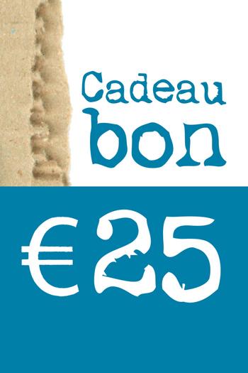 Cadeaubon van € 25  Karton  Cadeaubonnen