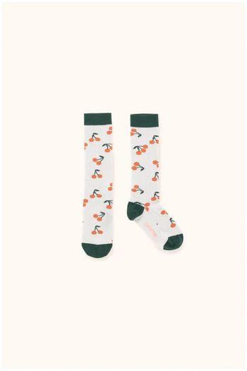 cherries high socks light grey/dark green  Kousen  Kniekousen