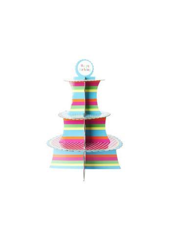Cupcake staanderd 'Happy Birthday'  Karton  Interieurdecoratie