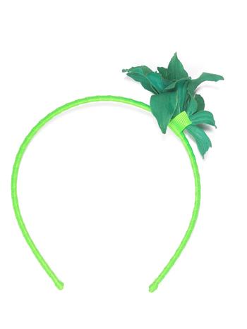 Diadeem duo flower groen  Kousen  Accessoires
