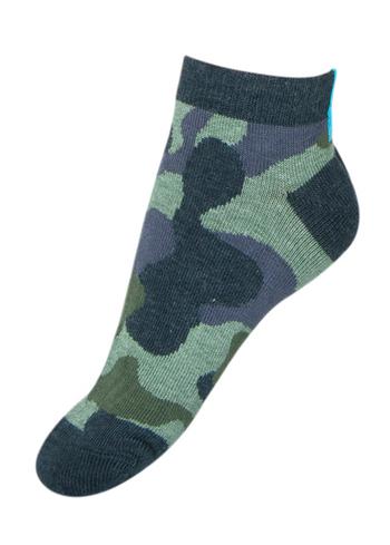 Enkelsokjes Camouflage dennegroen  Kousen  Kousen/sokken