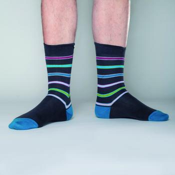 Eric Strapton Antraciet meerkleurig  Kousen  Kousen/sokken