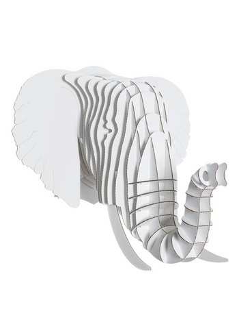 Eyan Jr Elephant white medium  Karton  Interieurdecoratie