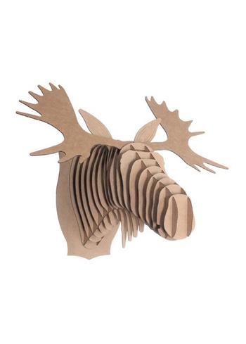 Fred Jr Moose brown medium  Karton  Interieurdecoratie