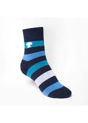 gewatteerde sokken/kousen blauw gestreept  Kousen  Kousen/sokken