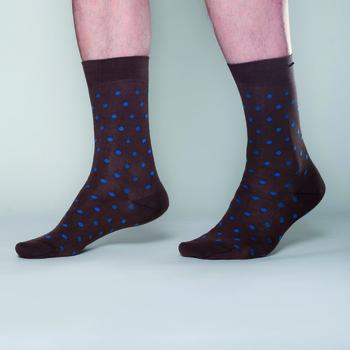 Johnny Dash Chocolade/Blue Petrol dots  Kousen  Kousen/sokken