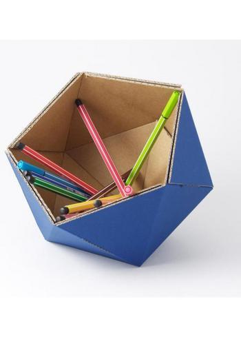 Klein mandje ICO - blauw  Karton  Interieurdecoratie