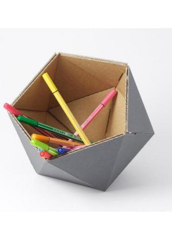 Klein mandje ICO - grijs  Karton  Interieurdecoratie