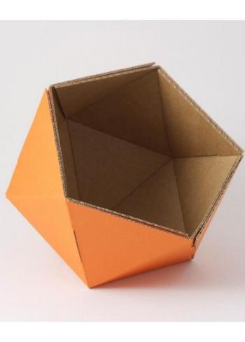 Klein mandje ICO - oranje  Karton  Interieurdecoratie