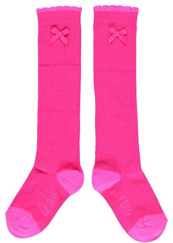 Kniekousen  fel pink/fuchsia  Kousen  Kniekousen